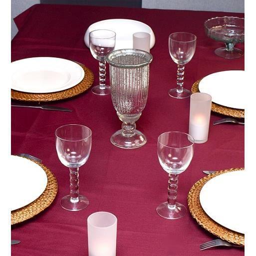 nappe anti t che lisse ronde lie de vin achat vente nappe de table cdiscount. Black Bedroom Furniture Sets. Home Design Ideas