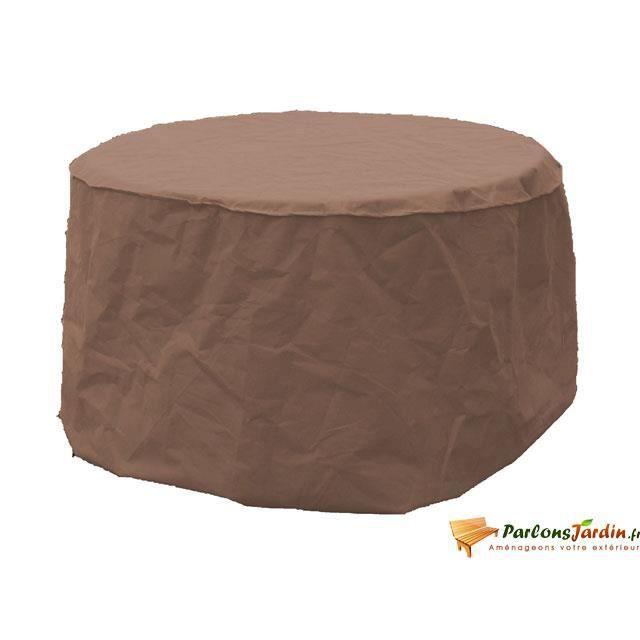housse de table ronde 120 sable achat vente housse meuble jardin housse de table ronde 120 s. Black Bedroom Furniture Sets. Home Design Ideas