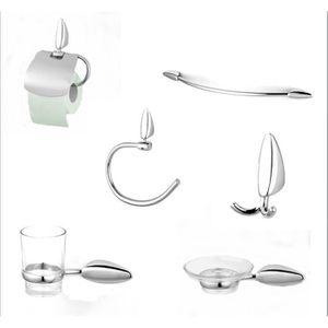 Set accessoires salle de bain chrome achat vente set for Set accessoires salle de bain design
