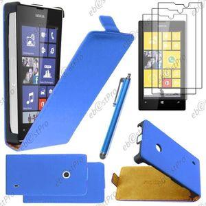 CHAUSSETTES WOFALO® ebestStar Etui PU Nokia Lumia 520, Bleu +S