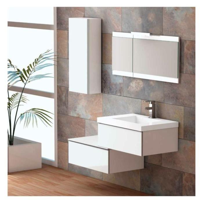 meuble suspendu salle de bain duo 70 sanschene 105 cm r sine de synth se 45 cm achat. Black Bedroom Furniture Sets. Home Design Ideas