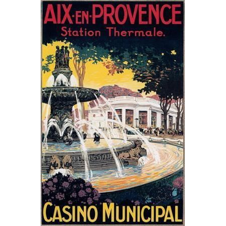 Affiche vintage de la station balnéaire Aix en ... - Achat / Vente ...