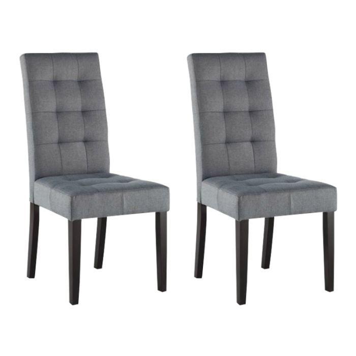 lot de 6 chaises grises maison design. Black Bedroom Furniture Sets. Home Design Ideas