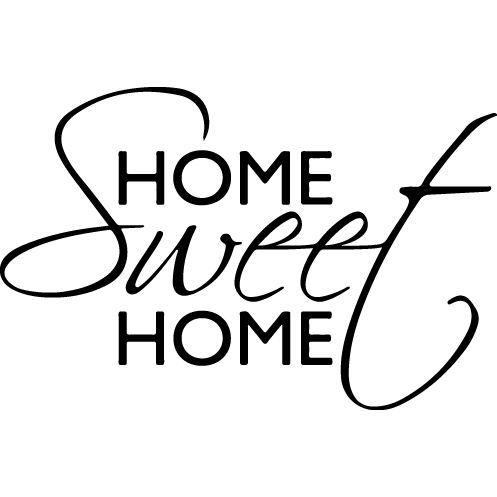 sticker home sweet home 88x57 cm achat vente stickers cdiscount. Black Bedroom Furniture Sets. Home Design Ideas