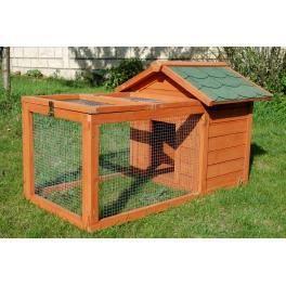 Cage bois prairie en sapin lapin et cochon d 39 inde achat - Niche pour chat exterieur plan ...