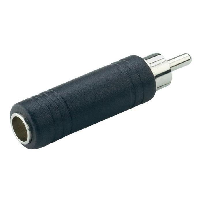 adaptateur jack femelle 6 3 mm rca m le paccs pas cher achat vente c bles jack cdiscount. Black Bedroom Furniture Sets. Home Design Ideas
