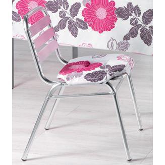 Galette de chaise 4 rabats eva fuchsia achat vente for Galette de chaise 4 rabats