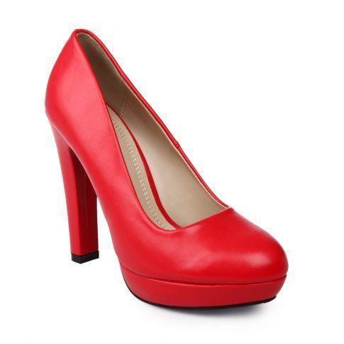 escarpins talon haut et plateforme rouge rouge rouge achat vente escarpin cdiscount. Black Bedroom Furniture Sets. Home Design Ideas