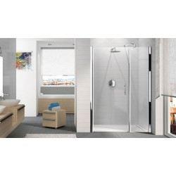 Porte de douche younggf120 pivotante avec paroi achat for Douche avec paroi en verre