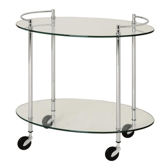 Table pour desserte en tube d 39 acier coloris chr achat vente desserte - Table and co vente en ligne ...