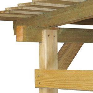 Abri en bois achat vente abri en bois pas cher cdiscount for Grand abri de jardin en bois
