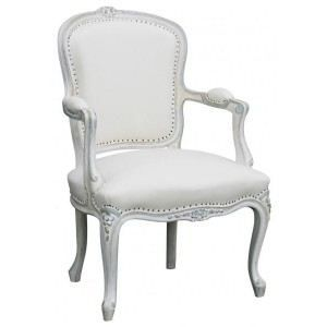Fauteuil louis xv cabriolet patin blanc tissu achat - Fauteuil cabriolet louis xv ...
