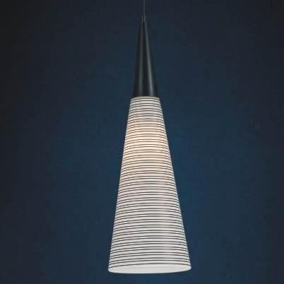 suspension conique verre noir et blanc achat vente suspension conique noir blanc verre. Black Bedroom Furniture Sets. Home Design Ideas