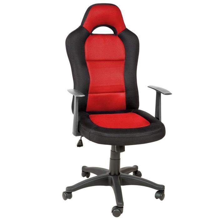 Fauteuil chaise de bureau ergonomique rouge achat vente chaise de bureau - Chaise de bureau rouge ...