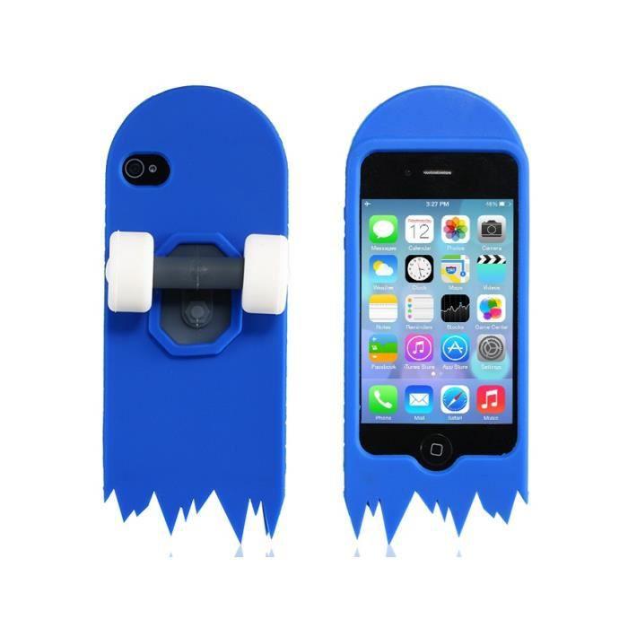 housse de protection silicone de conception de la planche 224 roulettes 3d pour l iphone 4s 4