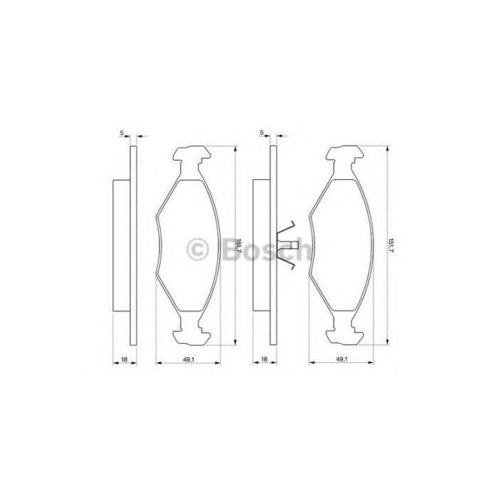 bosch kit de plaquettes de frein frein disque 986424514 achat vente filtre d 39 habitacle. Black Bedroom Furniture Sets. Home Design Ideas