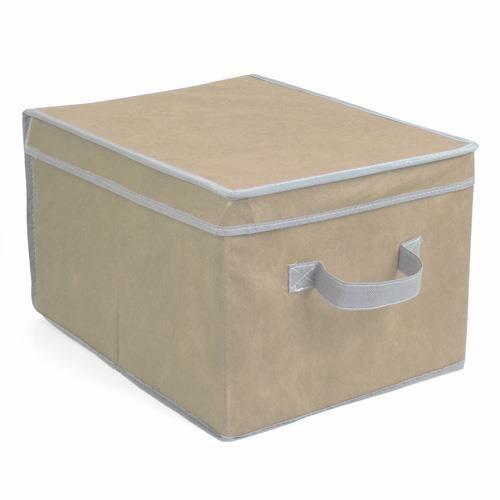 bo te de rangement 30 x 40 x 24 cm taupe achat vente boite de rangement cdiscount. Black Bedroom Furniture Sets. Home Design Ideas