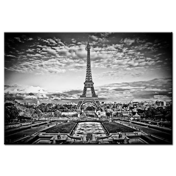 Tableau moderne paris eiffel achat vente tableau for Tableau paris noir et blanc