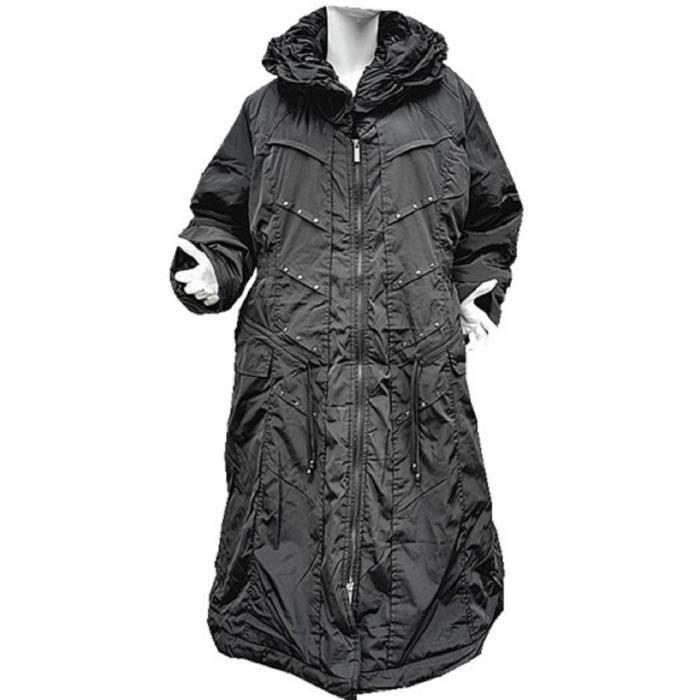 doudoune manteaux longue femme grande taille 46 48 50 52 54 56 hiver chaud 2w noir noir achat. Black Bedroom Furniture Sets. Home Design Ideas