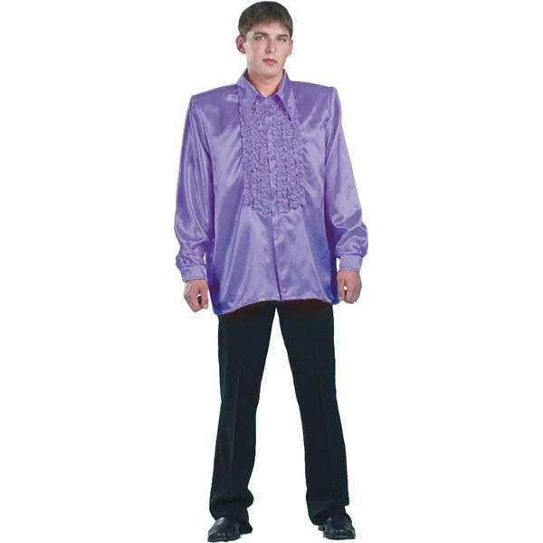 chemise super ruches homme violet taille 54 56 achat vente chemise super ruches homme. Black Bedroom Furniture Sets. Home Design Ideas