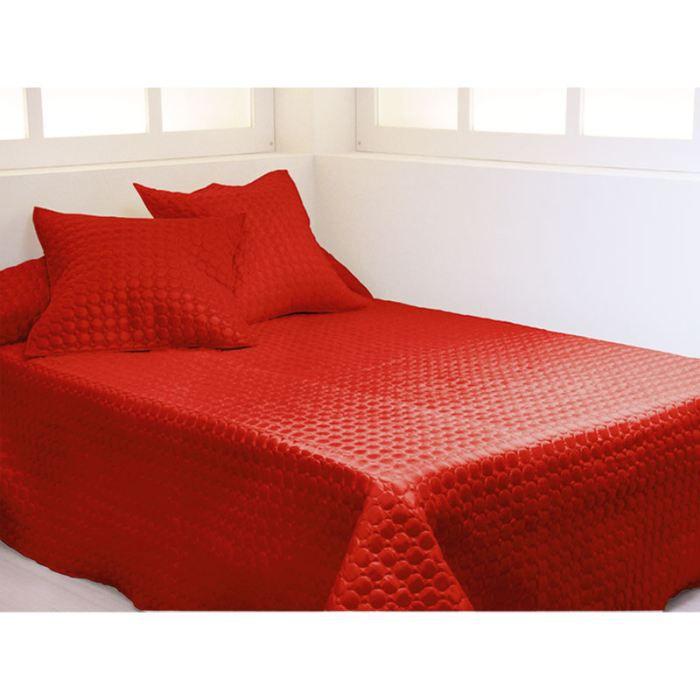 couvre lit 220x250 cm killian rouge lit 2 pers achat vente jet e de lit boutis cdiscount. Black Bedroom Furniture Sets. Home Design Ideas