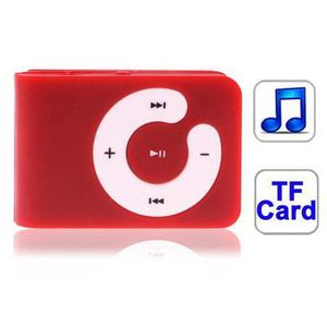 LECTEUR MP3 TF (Micro SD) Card Slot Baladeur MP3 with Clip(Red