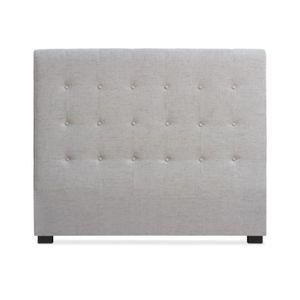 tete de lit capitonne tissus achat vente tete de lit capitonne tissus pas cher cdiscount. Black Bedroom Furniture Sets. Home Design Ideas