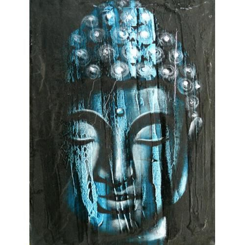 Bouddha peinture tableau bouddhisme painting buddh achat vente tableau - Peinture sur toile bouddha ...