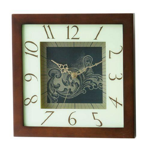 Premier housewares horloge murale carr e encadrement en - Horloge murale carree ...