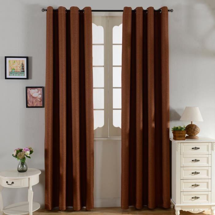 paire de rideaux oeillets occultants isolants thermiques solides lourds 140x215cm de fen tre. Black Bedroom Furniture Sets. Home Design Ideas