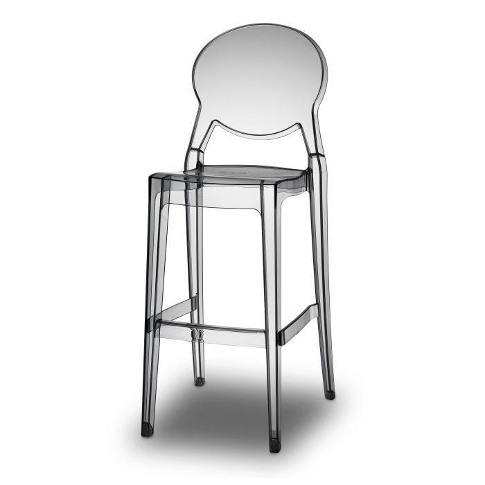 tabouret de bar transparent gris design - igloo? - achat / vente ... - Chaise De Bar Transparente