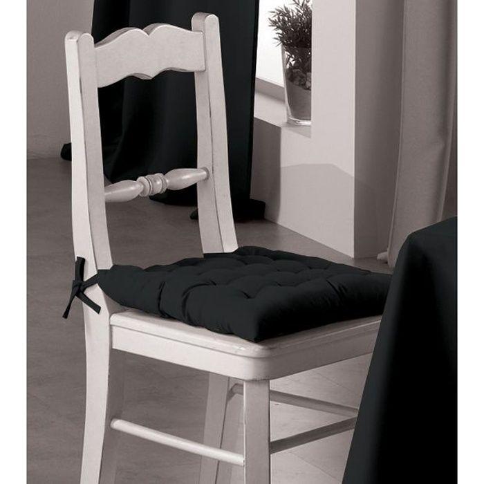 Assise de chaise essentiel noir achat vente coussin de for Assise de chaise