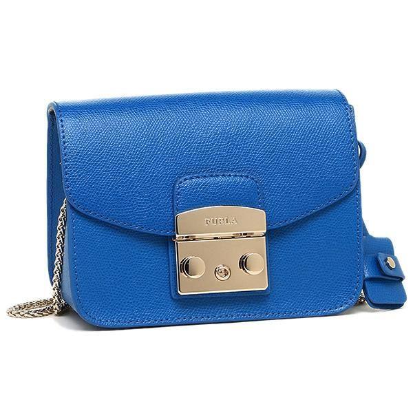 sac bandouli re furla bleu gamme metropolis en cuir pour femme achat vente sac bandouli re. Black Bedroom Furniture Sets. Home Design Ideas