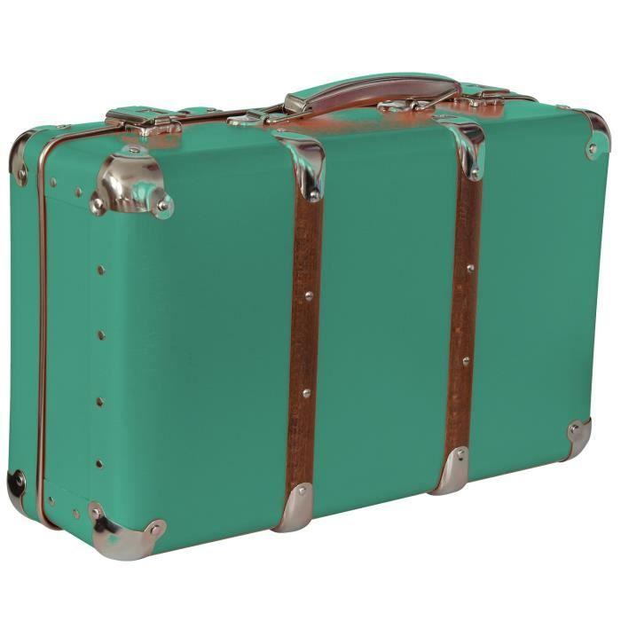 Valise d corative rangement jade 40x27x14cm achat for Boite de rangement decorative