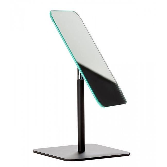 miroir de table design en m tal noir achat vente miroir cdiscount. Black Bedroom Furniture Sets. Home Design Ideas