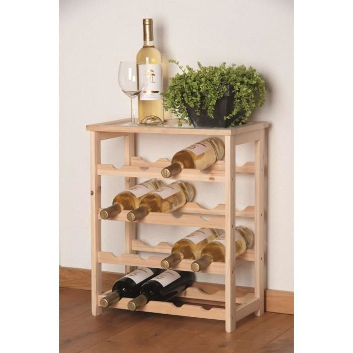 casier 16 bouteilles de vin en bois achat vente meuble range bouteille casier 16 bouteilles. Black Bedroom Furniture Sets. Home Design Ideas