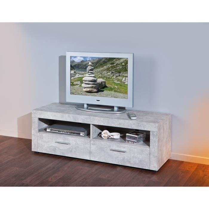 meuble t l beton clair achat vente meuble tv meuble t l beton clair cdiscount. Black Bedroom Furniture Sets. Home Design Ideas
