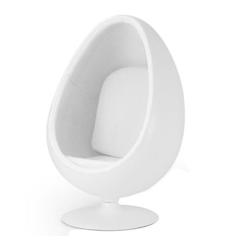 Fauteuil oeuf ball pod chair blanc blanc achat vente fauteuil mati re de - Fauteuil oeuf occasion ...