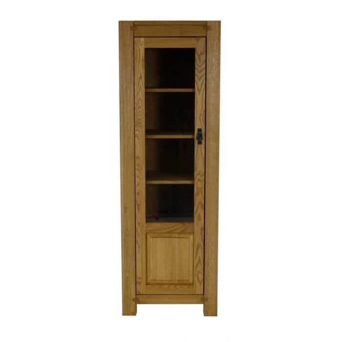 vitrine ch ne 1 porte long re couleurs des alpes achat. Black Bedroom Furniture Sets. Home Design Ideas