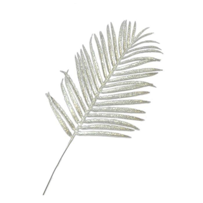 Feuille de palmier 46x22 cm argent achat vente d cors - Set de table feuille de palmier ...