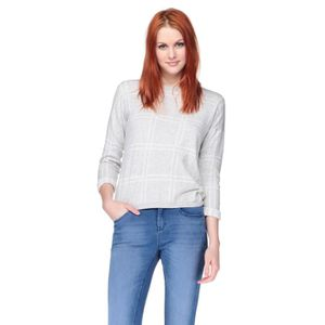 PULL NEW LOOK Pull Gris Femme