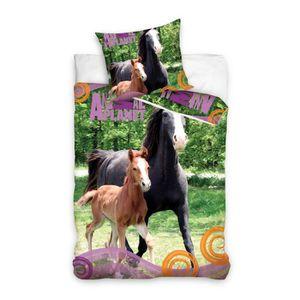 Housse de couette cheval 1 personne achat vente housse - Housse de couette cheval 2 personnes ...