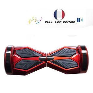 bro gyropode skate lectrique avec musique bluetooth hoverboard full led 8 pouces 700w rouge. Black Bedroom Furniture Sets. Home Design Ideas