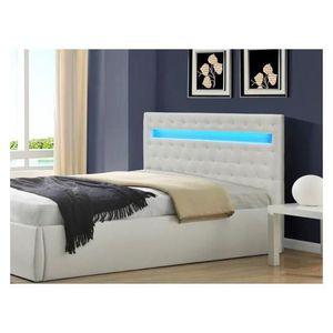 Tête de lit design Vengai blanc  160x125