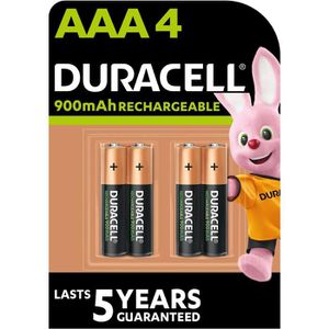 PILES DURACELL Piles Rechargeables UP AAA X4