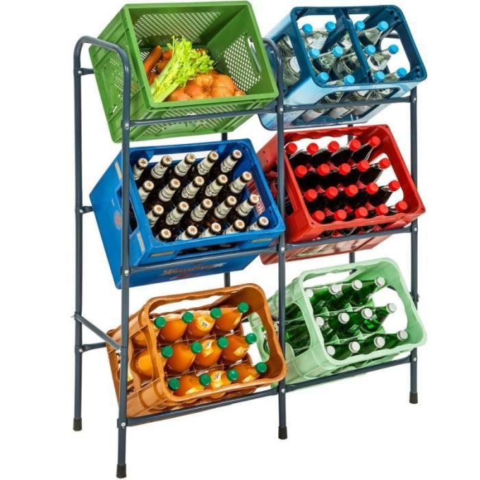 Tag re casiers pour 6 caisses de boissons achat for Meuble a boisson