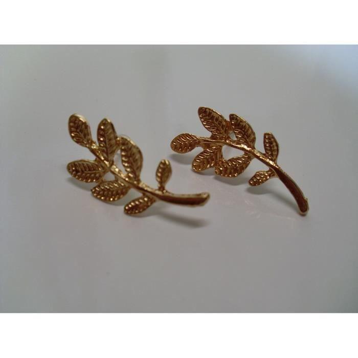 Boucle d 39 oreille feuille achat vente boite a bijoux - Boite a bijoux boucle d oreille ...