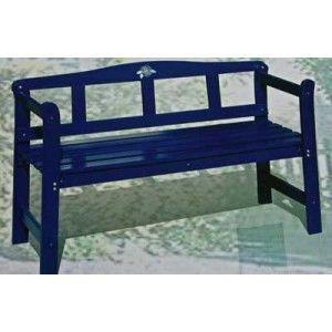 Banc de jardin bleu bois massif de pin 123 5x45x79cm for Banc de jardin occasion