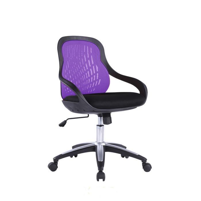 chaise de bureau noir violet dimensions 84 achat vente chaise de bureau noir cdiscount. Black Bedroom Furniture Sets. Home Design Ideas