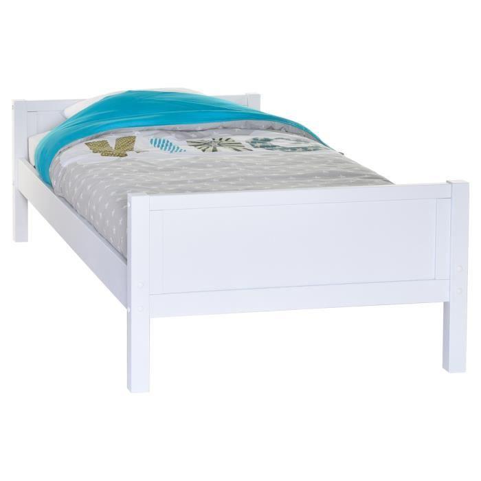 Lit enfant blanc 90x190 achat vente structure de lit lit enfant blanc 90x - C discount lit enfant ...